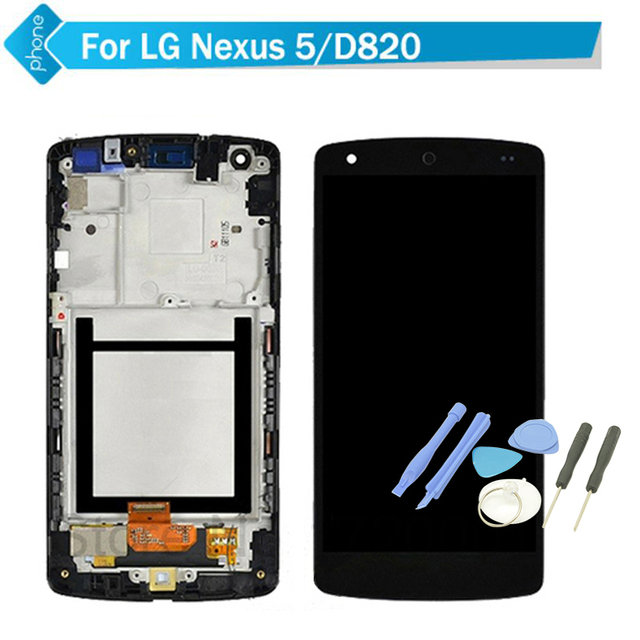 For LG Nexus 5 D820 D821 LCD Display Touch Screen Digitizer with Frame (dull polish) +Tools
