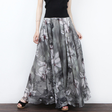 Newest Arrival Women Fashion Seaside Summer Print Big Swing Skirt Bohemian A Line Floor Length Skirt XHSD-3090