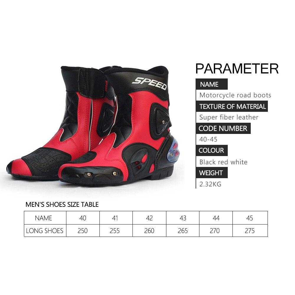 Waterproof Pro-biker 3 colors Speed Bikers Moto Racing Motocross Leather Shoes Motocross Racing Boots for Motorcycle 40-45
