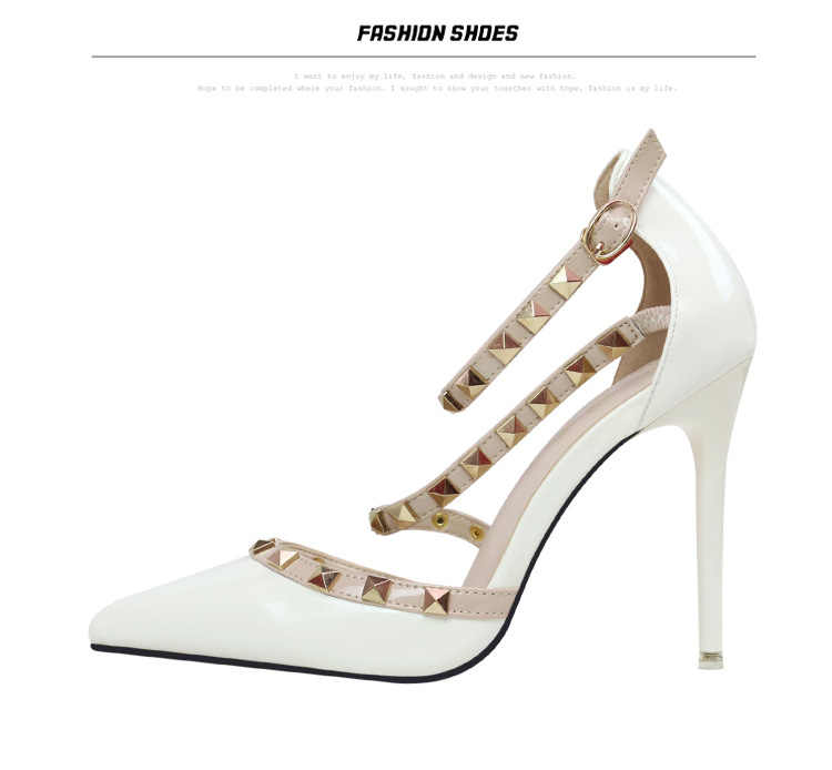 AGUTZM Vrouwen Pompen Dames Sexy Puntschoen Hoge Hakken Fashion Bezaaid Stiletto Klinknagel Hoge Hak Sandalen Schoenen Grote Maat
