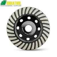 SHDIATOOL 4.5inch Diamond Turbo Row Grinding Cup Wheel Dia 115mm Grinding Disc For Concrete Masonry