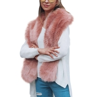 Roze Faux Bontkraag Sjaals Elegante Dames Vrouwen Wit Sjaal Cachecol Nieuwe ontwerp Winter Warm Bontkraag Sjaal
