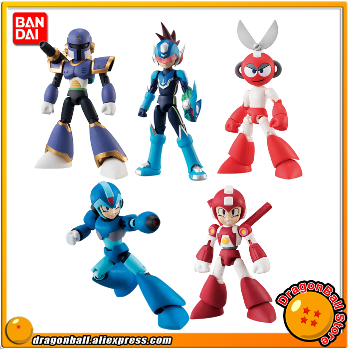 Megaman Rockman 66 action Part 2 5 figure set Bandai Shokugan