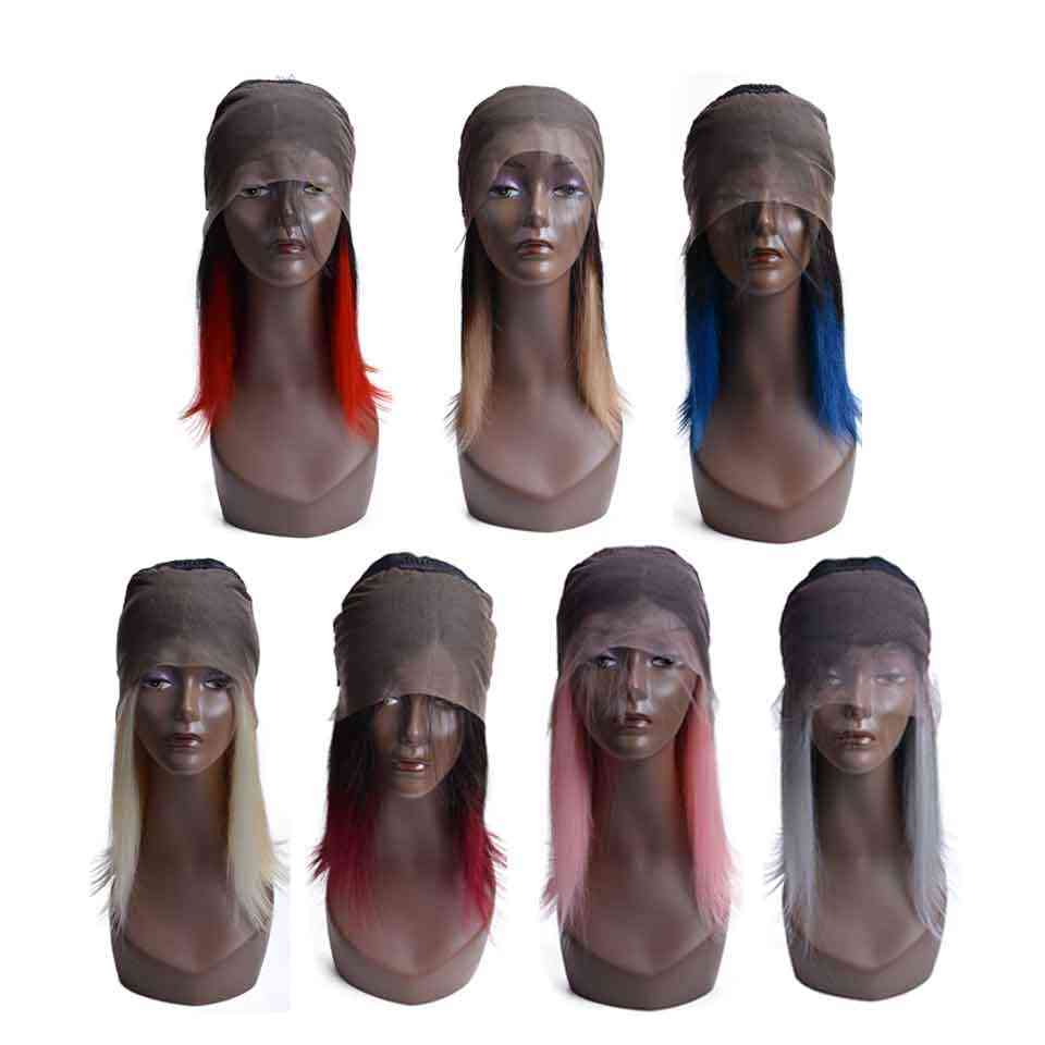 13x4 человеческие волосы на кружеве парики для черных женщин бразильские волосы remy Омбре короткие человеческие волосы боб парики с волосами младенца