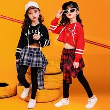 Children's street dance set girls hip hop jazz dance costume girls hiphop performance clothing children's dance clothes tide джинсы мужские tide with community c033 1 coogi hiphop