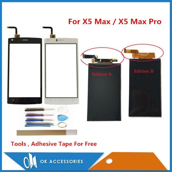 100% Test 5.0 pouce Pour Doogee X5 Max/X5 Max Pro LCD Screen Display Avec Écran Tactile Pièce De Rechange avec Des Outils Adhésif Bande