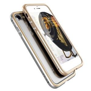 Image 5 - מתכת פגוש עבור iphone 8 מקרה כיסוי יוקרה אלומיניום מסגרת עבור iphone 8 בתוספת ברור שקוף חזרה עמיד הלם טלפון מקרה