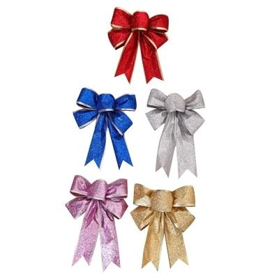 5 Unids / lote 25 cm Grande Brillante Glitter Ribbon Bow Decoración - Para fiestas y celebraciones - foto 1