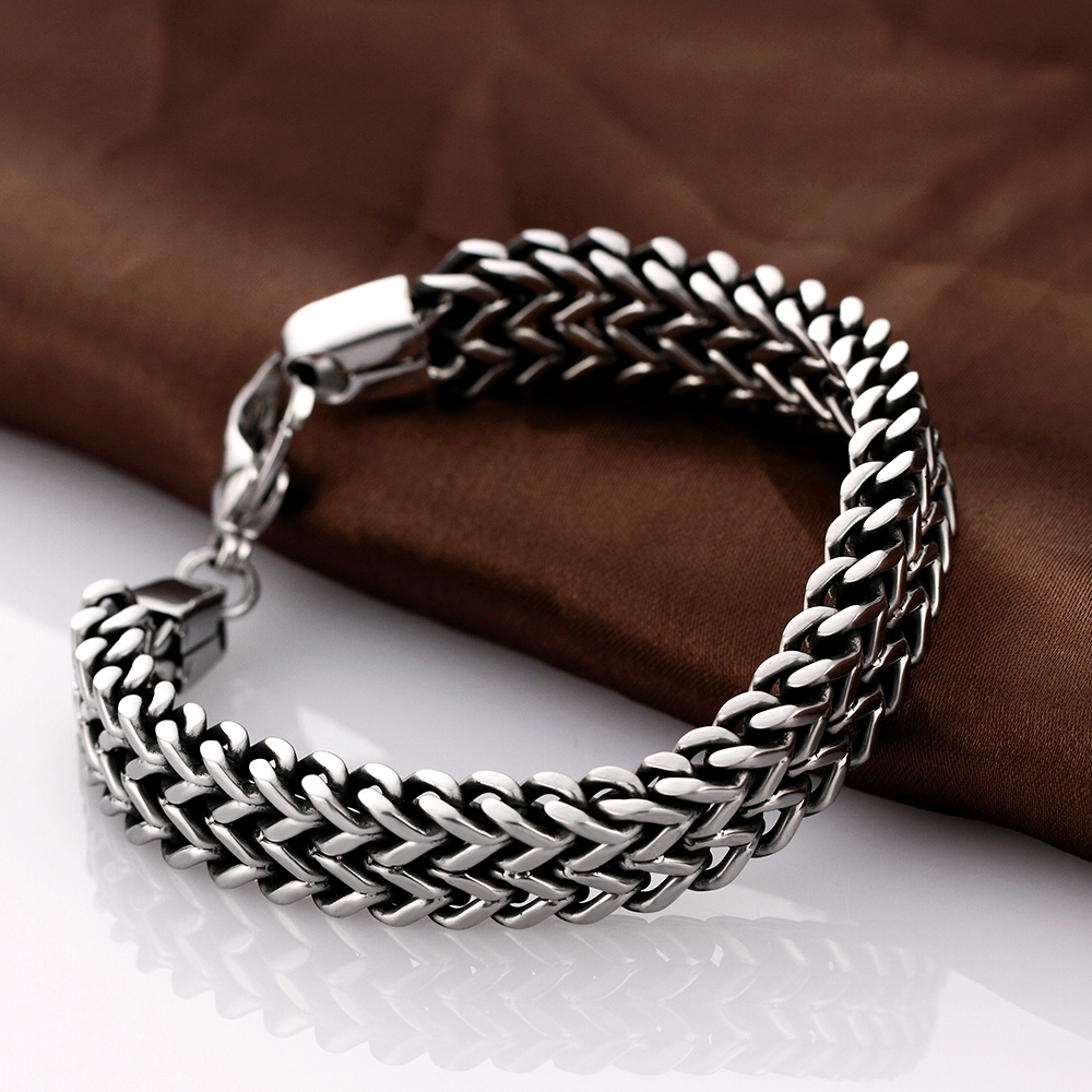 2017 mens bracelets & Bangles 5*12mm 316L Stainless Steel Wrist ...
