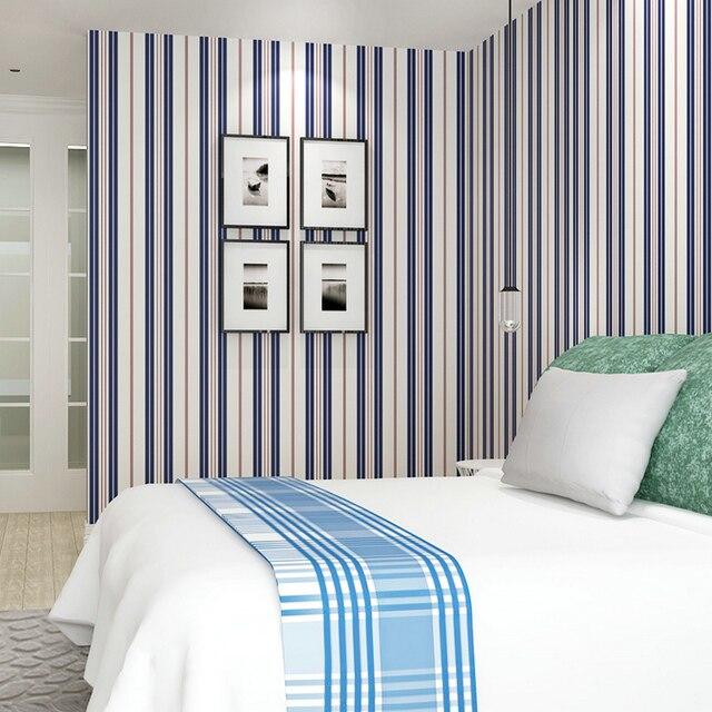 Behang Slaapkamer Blauw.3d Verticale Streep Behang Groen Blauw Rode Voor Muren Woonkamer Kid S Slaapkamer Moderne Eenvoudige Achtergrond Muur