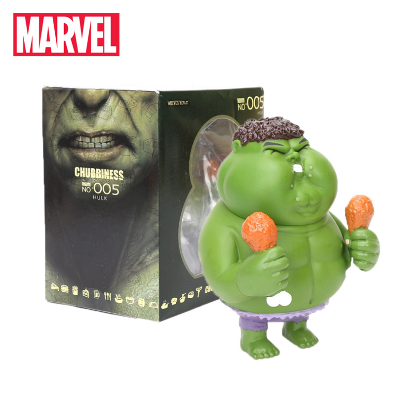 12cm Marvel Toys Avengers Fatty Series Hulk Action Figures 1/10 Scale Painted Figure Chubbiness Hulk Ironman American Captain(China)