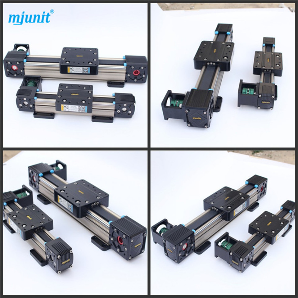 heavy load linear stage MJ60 linear guide 5M-25 toothed belt drive rail belt driven guided linear actuator any travel length linear motion motorized linear stage heavy duty belt driven stage