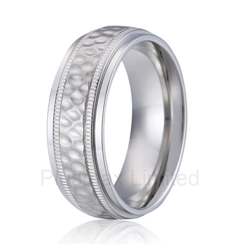 high quality Anel de Casamento handmade titanium jewelry unique design super cool 8mm men wedding band finger ring anel de casamento titanium steel fashion jewelry girlfriend gift black ceramic wedding rings sets