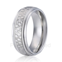 high quality Anel de Casamento handmade titanium jewelry unique design super cool 8mm men wedding band finger ring