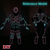 Hot Sales EL Wire Glowing Suit American Talent Show DIY Clothes Material For Party Show Decor