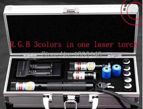 Queima de alta Potência 300000 m 450nm Laser Azul 6000 mw + Laser Vermelho + 532nm 6000 mw Verde 3 em 1 focalizável Ponteiro Laser, queimadura de Cigarro