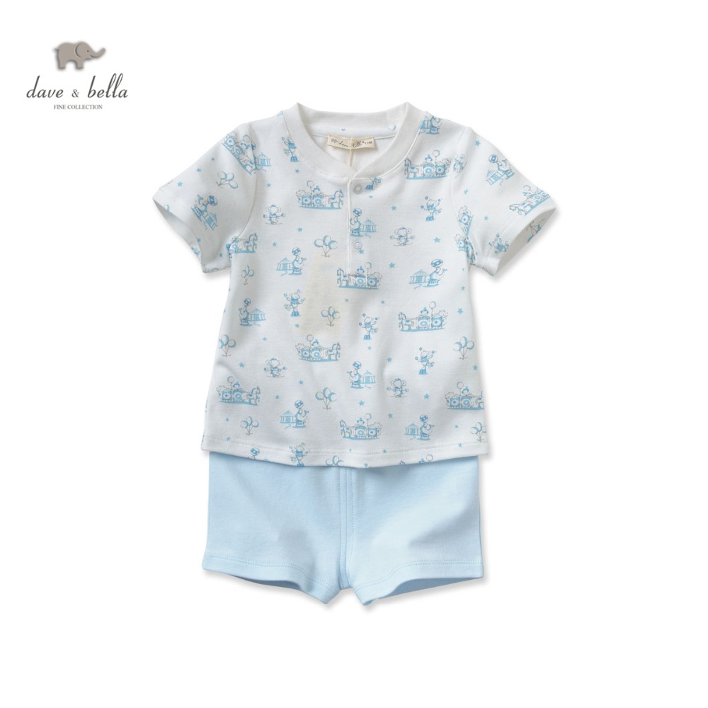 DB2553 dave bella summer baby clothing sets infant clothes ...