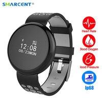 SMARCENT I8 Bluetooth Smart Band Watch IP68 Waterproof Blood Pressure Heart Rate Monitor Smart Bracelet Touch