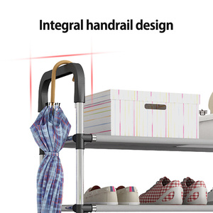 Image 4 - New arrival Multiple layers Shoe Rack with handrail Easy Assembled Shelf Storage Organizer Stand Holder Keep Room Neat