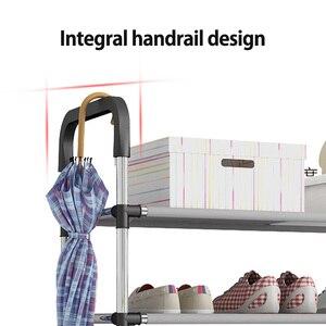 Image 4 - มาใหม่หลายชั้นชั้นวางรองเท้า handrail ประกอบง่ายชั้นวางของที่เก็บผู้ถือขาตั้งเก็บห้องพักเรียบร้อย