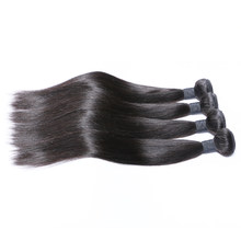Brazilian Hair Bundles Straight Human Hair Weave 4 Bundles Thick Hair Natural Color Brenda Remy Hair Weaves Bundles Free Ship(China)