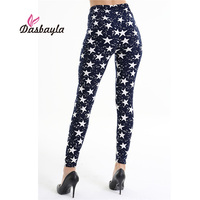 Dasbayla 2017 Women Print Fashion Leggings Low Waist Thin Stretch Ankle Skinny Pants Sexy Slim Ladies