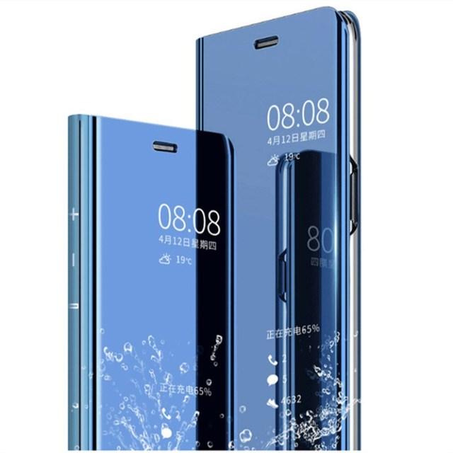 new product 4afa6 2e2ce US $3.73 11% OFF|Redmi Note 5 4 4X 5A Pro Mirror case Clear Smart View  Cases Flip Cover for Redmi 5 Plus Mi Mix 2 Note 3 MI 5X A1 6X Housing  capa-in ...