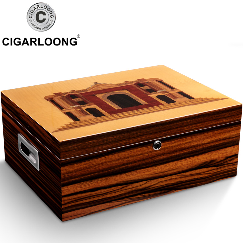 luxury Cedar Wood Cigar Humidor Moisturizing Humidor Cabinet Cigar Case With Hygrometer Humidifier CA-051luxury Cedar Wood Cigar Humidor Moisturizing Humidor Cabinet Cigar Case With Hygrometer Humidifier CA-051