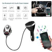 Car Bluetooth Audio Adapter USB Charger FM Transmitter Cigarette Lighter Car Kit Wireless Speaker Headphone Adapter