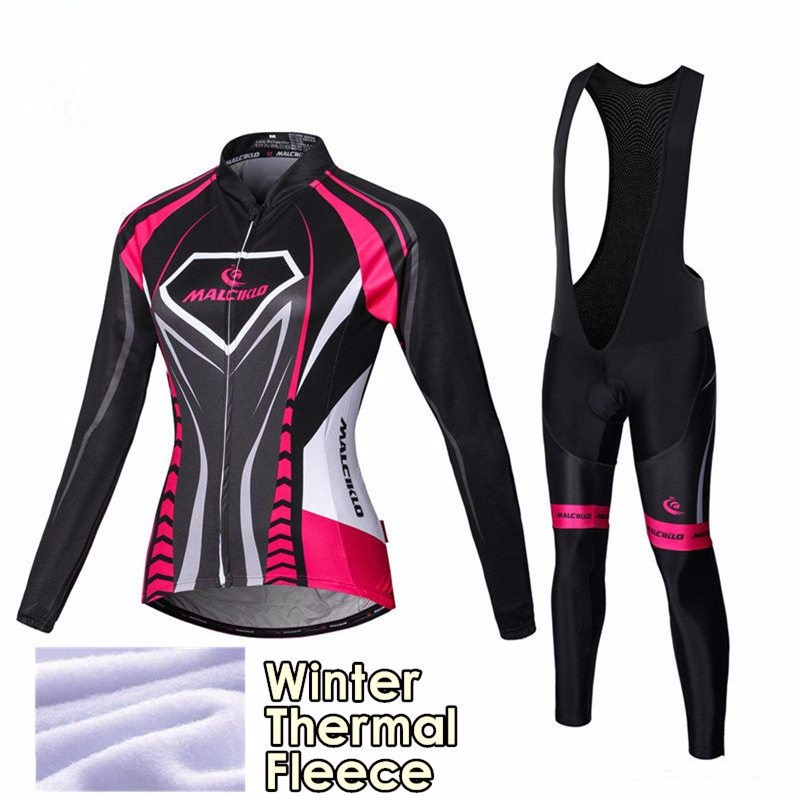 f434ce4e8f Aliexpress.com : Buy 2016 Pink Women Winter Thermal Fleece Cycling Jersey  Long Sleeve Ropa Ciclismo Mujer Mtb Clothes Pro Bike Cycling Clothing from  ...