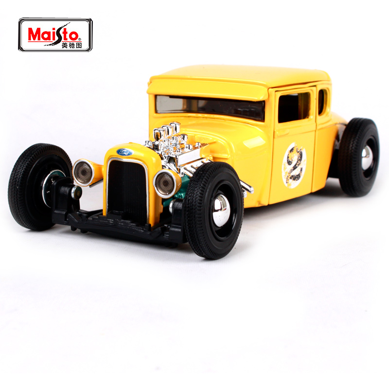 Maisto 1:24 1929 Ford Outlaws Model A HOT ROD Diecast Model Car Toy ...