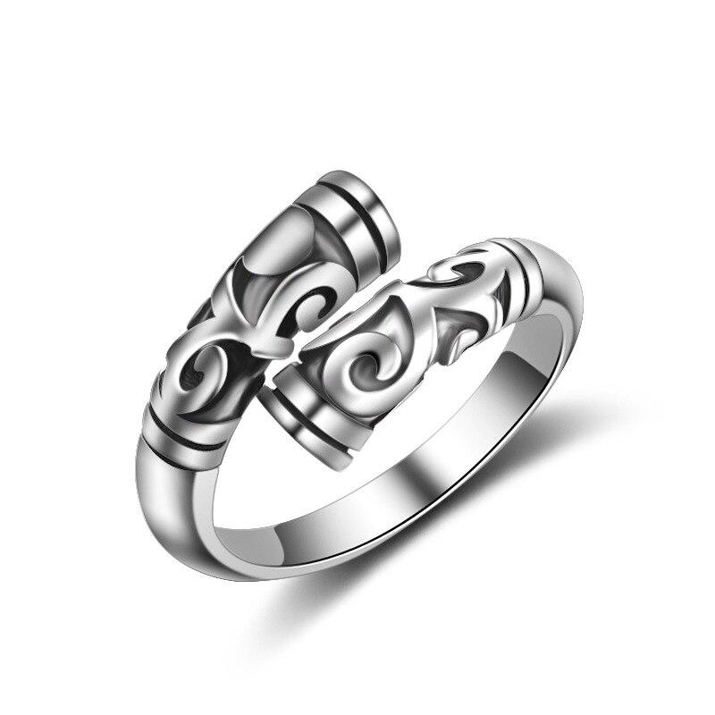 Hot výprodej nový stříbrný prsten módní jedinečný vintage design 925 Sterling Silver nastavitelné velikosti prstenů pro ženy šperky dárek