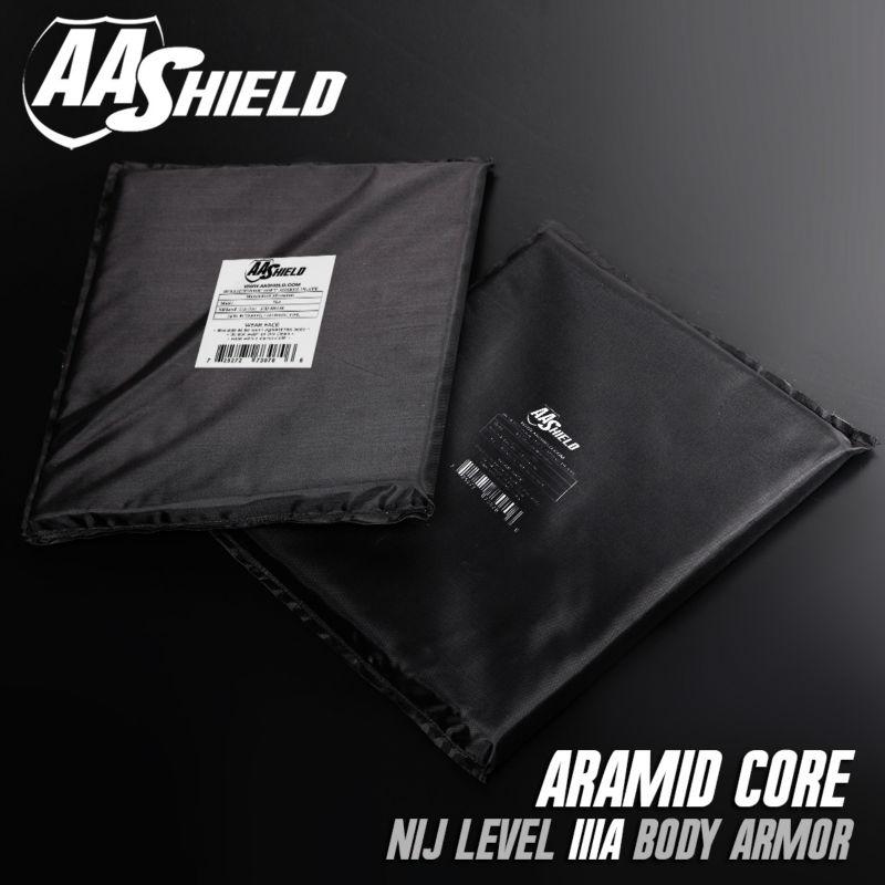 AA Shield Bulletproof Soft Armor Panel Body Armor Inserts Plate Aramid Core Self Defense Supply NIJ Lvl IIIA &HG2 11X14 Pair