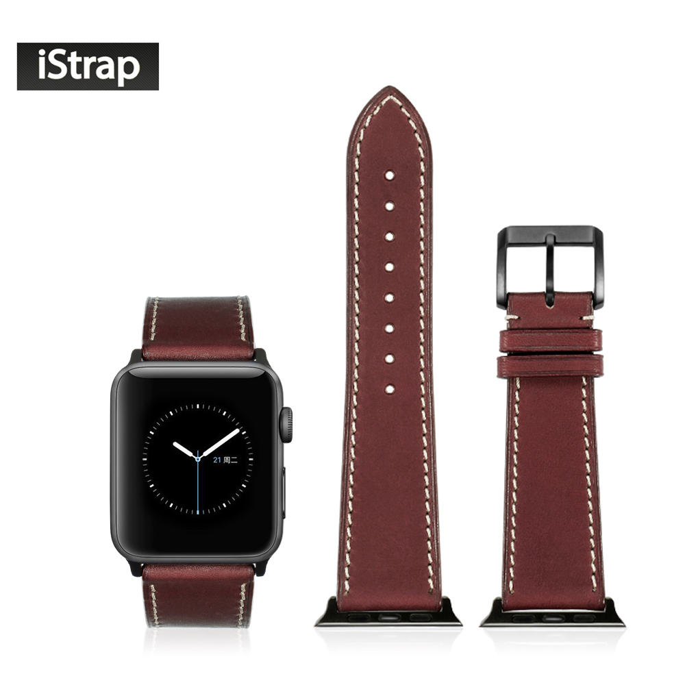 все цены на iStrap Wine Red 42mm Strap For Apple Watch Sport Edition High Quality Soft Replacement Wath Band For iWatch Series 1 and 2 онлайн
