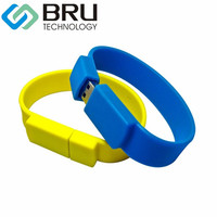 32GB USB Flash Drive For Gift Customization Silicone Bracelet Pendrive Wristband Flash Disk OEM Memory Stick