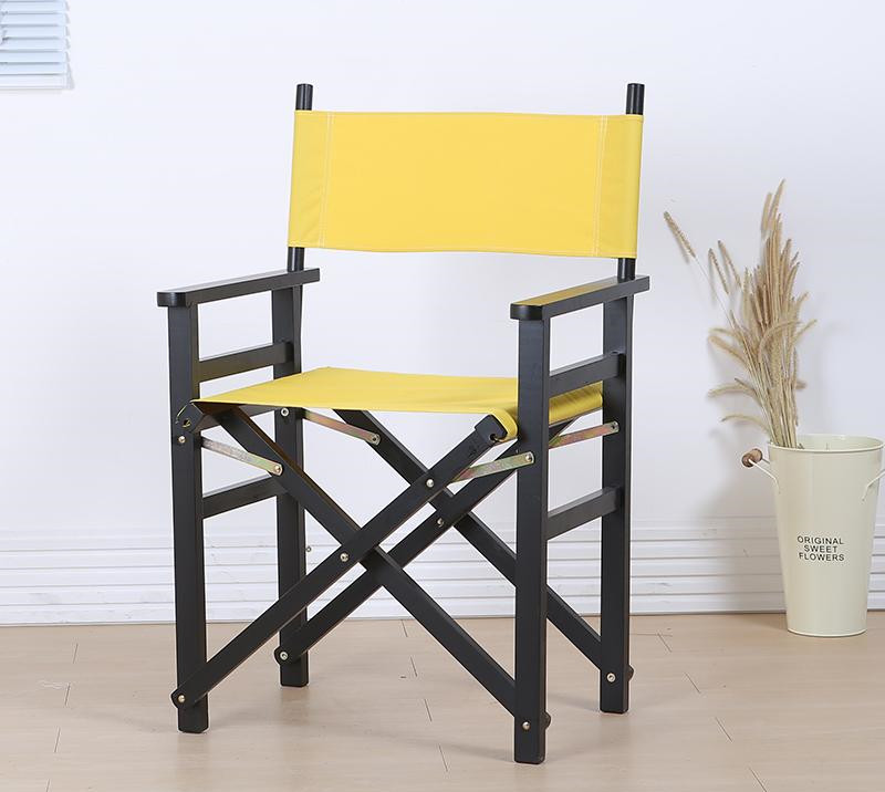 Solid Beech Wood Director Chair Natural/Black Frame with Cavans Garden Furniture Wooden Portable Director Beach Folding Chair kid size directors foldable chair in canvas fabric with beech wood children furniture wood folding portable kids director chair