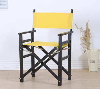 Solid Beech Wood Director Chair Natural/Black Frame with Cavans Garden Furniture Wooden Portable Director Beach Folding Chair фото