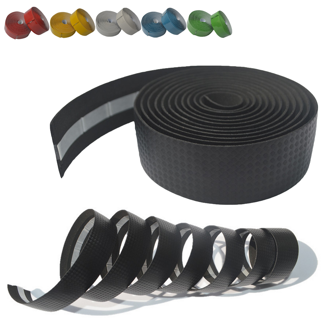 1 Pair Road Bike Anti-slip Handlebar Tape Cork Bicycle Carbon Handle Belt Wrap+2 Bar Plug Bicycle Parts Bike Accessories