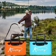 New Fishing Folding Bucket Multi-Purpose Waterproof Anti-friction Carry Bucket Fish Tank Outdoor Fishing Accessories Portable folding thickened fishing bucket fish protection outer bucket multi function fishing barrel fishing gear
