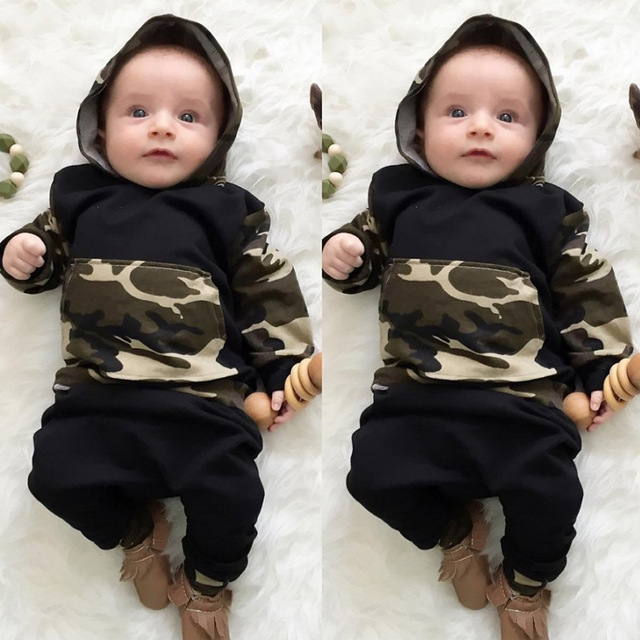 6d632df5c Infant Baby Boy Clothing Sets Newborn Baby Boys Camouflage Camo ...