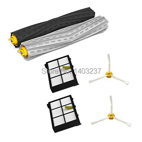 Tangle-Free Debris Extractor Brush&3-Armed Side Brush&Hepa Filter For irobot Roomba 800 series 870 880 900 series 980