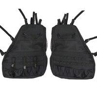 Car Multifunction Tool Saddlebag for Jeep Wrangler JK 4 door Anti Roll Rack Storage Organizers Luggage Gadget Holder Cargo Bag