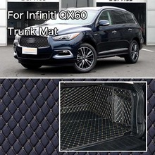 PU Leather Rear Trunk Cargo Liner Protector Mat Seat Back Cover For Infiniti QX60