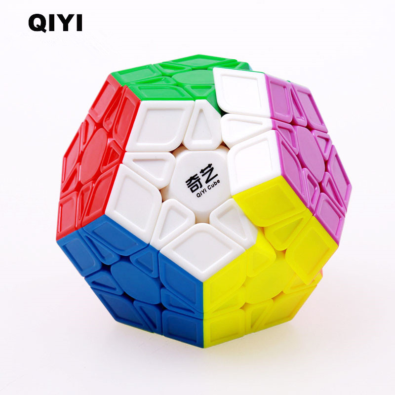 Original QIYI megaminx Magic Speed Cube 12-sides Stickerless Cubo Magico professional Puzzle learning education toy for children