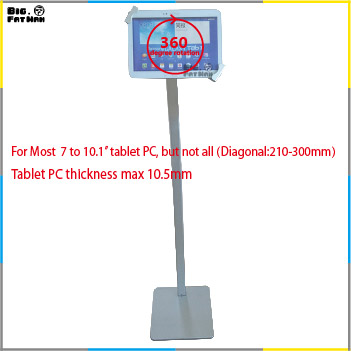 Anti-Theft Universal Tablet display floor stand for 7-10.1