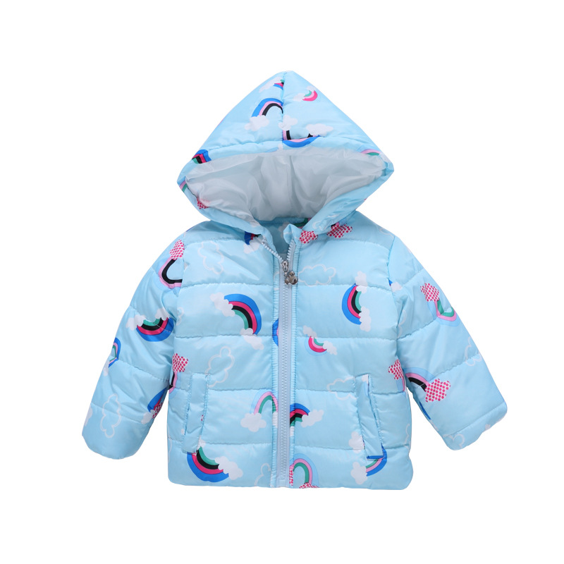 12M-4T Baby Parkas Baby Girl Clothes Keep Warm Hooded Thickening Cute Cartoon Rainbow Cotton Coat Baby Girl Parkas Winter children winter coats jacket baby boys warm outerwear thickening outdoors kids snow proof coat parkas cotton padded clothes