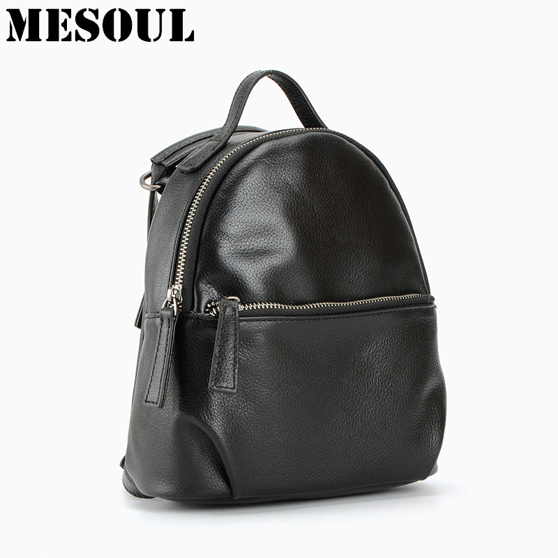 Summer Backpack Women Genuine Leather Mochila famous brand School Bags for girls High Quality Daily Backpacks Shoulder Tote Bags