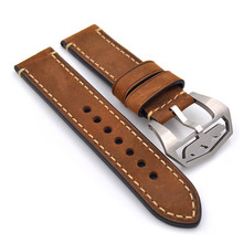 Men's Watch Watch Strap 22mm Vintage Brown Cow Leather