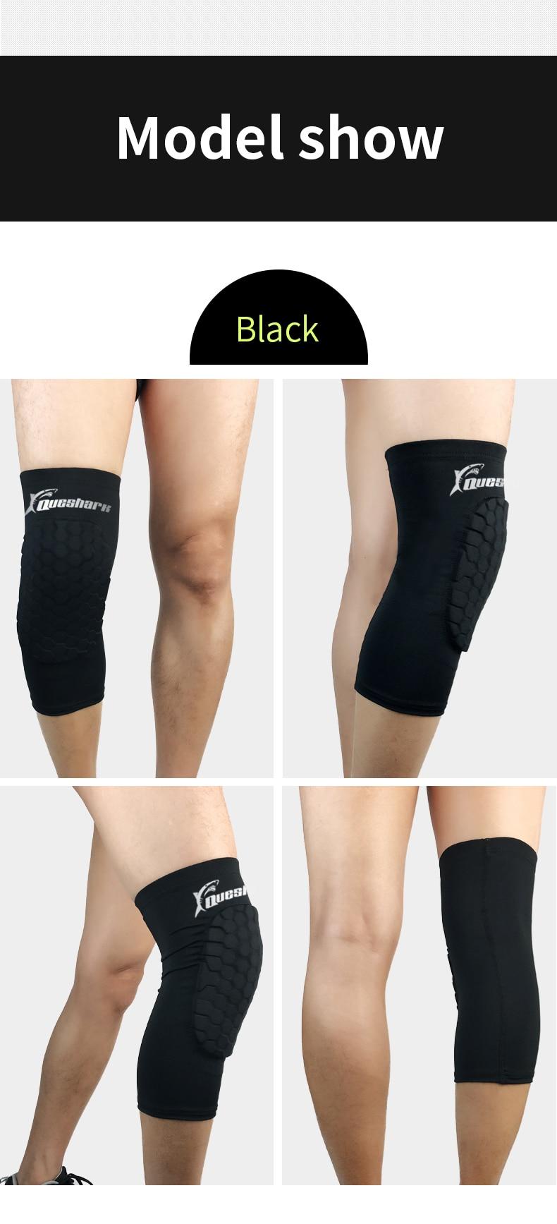 2pcs Honeycomb Basketball Knee Pads Running Brace Calf Leg Sleeve Kneepad Hx003 1 13