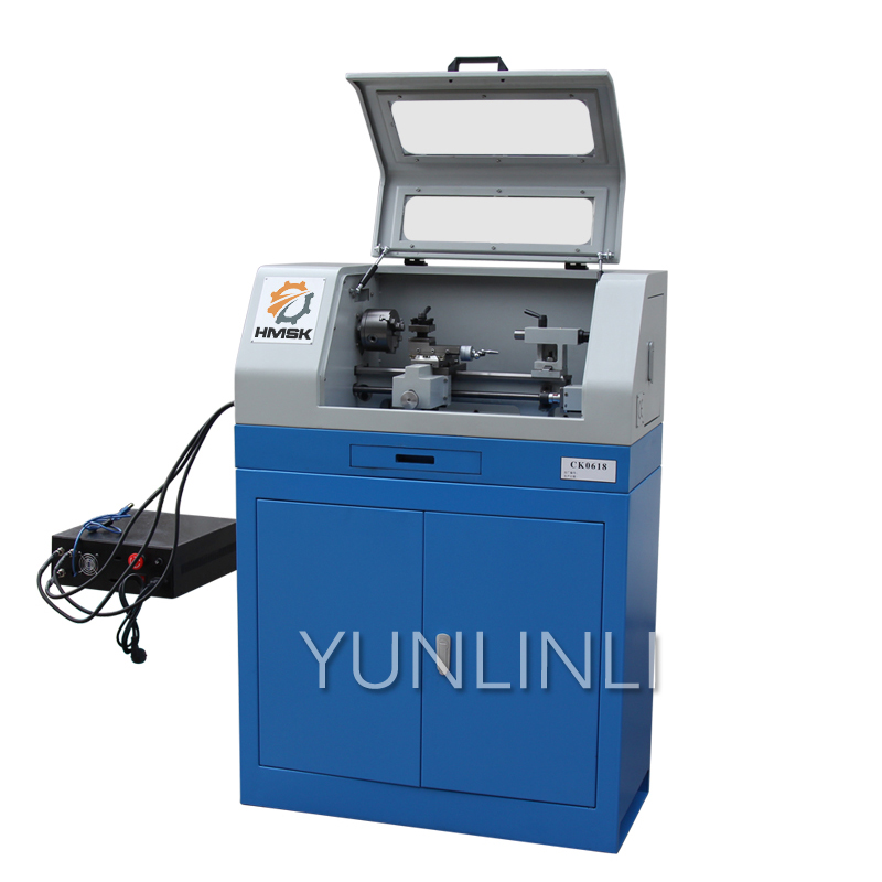 CK0618 Small CNC Lathe 220V 500W Mini Lathe Metal Processing Fully Automatic CNC Woodworking Model Processing Machine